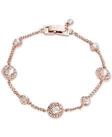 Givenchy Silver-Tone Pavé Bracelet