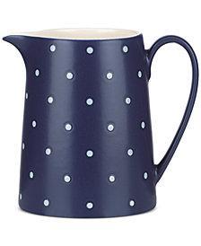 kate spade new york Larabee Dot Navy Collection Stoneware Creamer