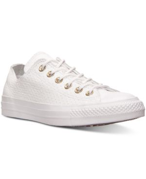 UNISEX CHUCK TAYLOR OX CRAFT LEATHER CASUAL SNEAKERS FROM FINISH LINE