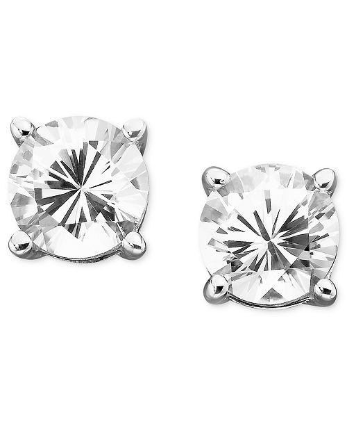Macy S White Shire Stud Earrings 2 Ct T W In 14k Gold