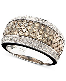 Chocolate and White Diamond Band Ring in 14k Gold or 14k White Gold (1-5/8 ct. t.w.)