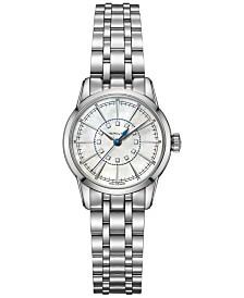 Hamilton Women's RailRoad Lady Diamond Accent Stainless Steel Bracelet Watch 28mm H40311191