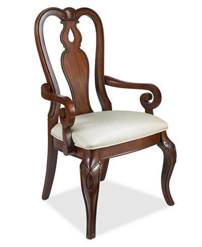 Bordeaux dining chair queen anne arm chair created for for Queen anne furniture