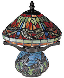 Dale Tiffany Dragonfly Road Accent Table Lamp