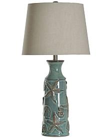 StyleCraft Nautical Ceramic Table Lamp