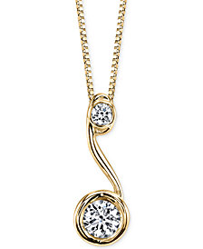 Sirena® Diamond Drop Pendant Necklace (1/5 ct. t.w.) in 14k Gold