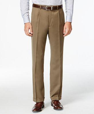 Lauren Ralph Lauren Tan Solid Pleated Dress Pants - Pants - Men ...