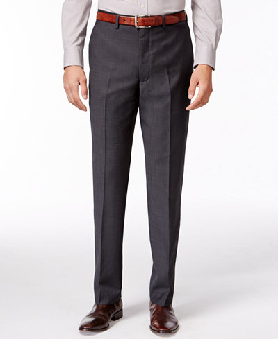 DKNY Grey Pants Extra Slim Fit - Suits & Suit Separates - Men - Macy's