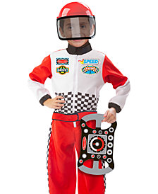 Melissa and Doug Kids' Race Car Driver Role Play Costume Set