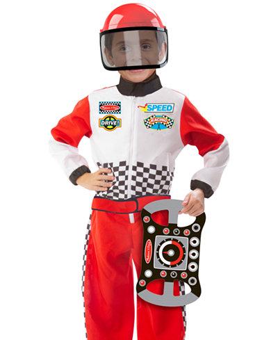 melissa and doug kids race car driver role play costume set