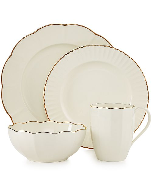 6104b26b2a Marchesa by Lenox Dinnerware, Shades of White Collection & Reviews ...