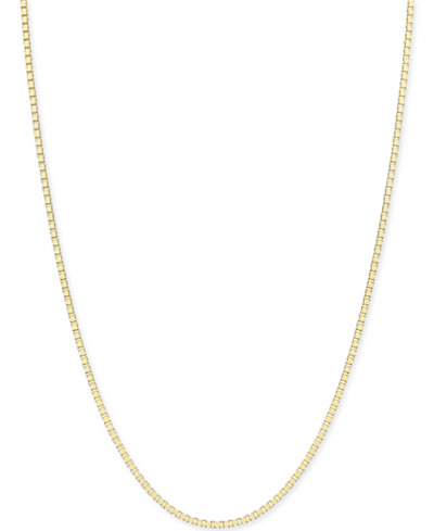 Box-Link Chain Necklace in 14k Gold