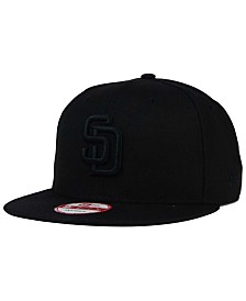 New Era San Diego Padres Black on Black 9FIFTY Snapback Cap