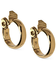 Anne Klein Gold-Tone Wide Hoop E-Z Comfort Clip-on Earrings