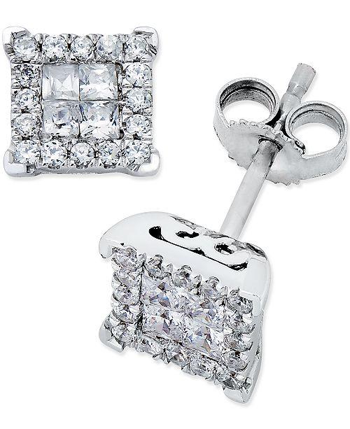 Macy's Diamond Stud Earrings (1/2 ct. t.w.) in 14k White Gold