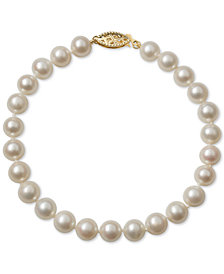 Belle de Mer Cultured Freshwater Pearl Bracelet (6mm) in 14k Gold