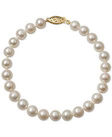 Belle de Mer Cultured Freshwater Pearl Bracelet (6mm) in 14k Gold