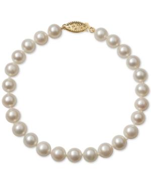 Cultured Freshwater Pearl Bracelet (6mm) in 14k Gold