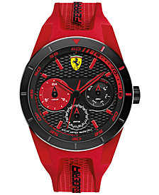 Scuderia Ferrari Men's RedRev T Red Silicone Strap Watch 44mm 830258