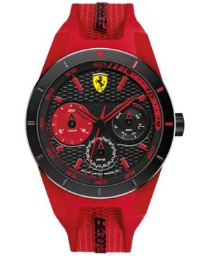 Scuderia Ferrari Men's RedRev T Red Silicone Strap Watch 44mm 830258