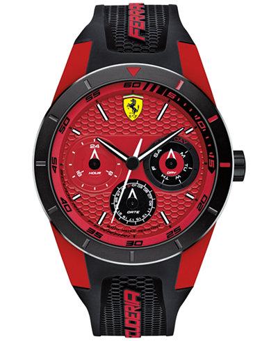 Scuderia Ferrari Men's RedRev T Black Silicone Strap Watch 44mm 830255
