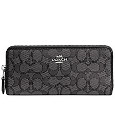 COACH Slim Accordion Zip Wallet in Signature Jacquard