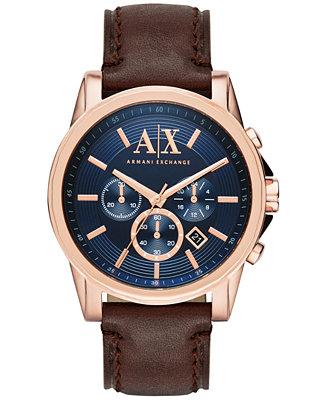 A|X Armani Exchange Men's Chronograph Dark Brown