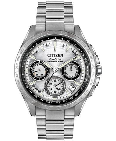 citizen citizen macy s citizen men s eco drive satellite wave f900 titanium bracelet watch 43mm cc9010 74a