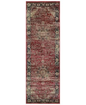 "CLOSEOUT! HARAZ HAR428 Red 2'7"" x 7'10"" Runner Rug"