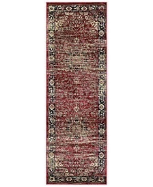 "CLOSEOUT! Couristan HARAZ HAR428 Red 2'7"" x 7'10"" Runner Rug"