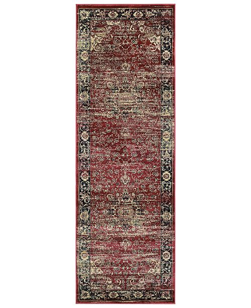 "Couristan CLOSEOUT! Haraz HAR428 Red 2'7"" x 7'10"" Runner"