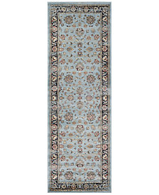 "CLOSEOUT! Couristan HARAZ HAR1443 Blue 2'7"" x 7'10"" Runner Rug"