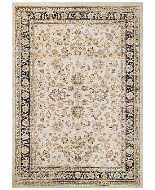 Couristan CLOSEOUT! HARAZ HAR1443 Ivory/Black Area Rugs