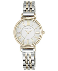 Anne Klein Women's Two-Tone Bracelet Watch 30mm AK-2159SVTT