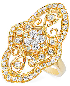 Le Vian® Vanilla® Deco Estate™ Vintage Diamond (9/10 ct. t.w.)  ring in 14k Gold