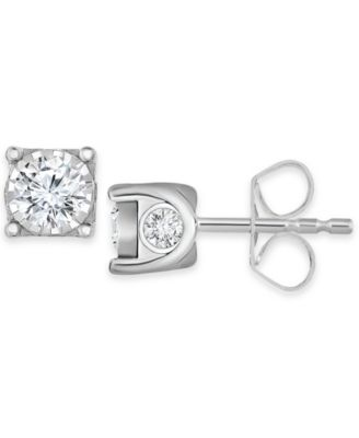 Image of TruMiracle® Diamond Stud Earrings (3/8 ct. t.w.) in 14k White Gold or Gold