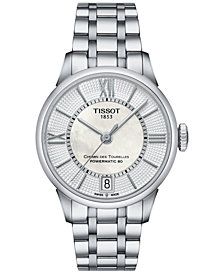 Tissot Women's Swiss Automatic Chemin Des Tourelles Stainless Steel Bracelet Watch 32mm T0992071111800