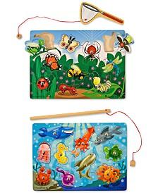 Melissa and Doug Kids' Fishing & Bug Catching Magnetic Game Bundle