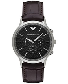 Men's Chronograph Renato Dark Brown Leather Strap Watch 43mm AR2482