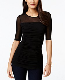 INC Ruched Illusion Top, Created for Macy's