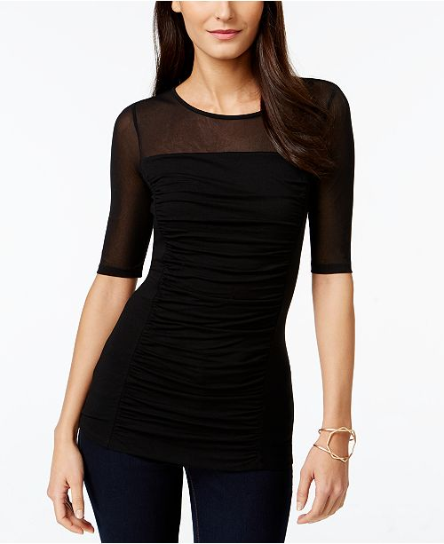 INC International Concepts INC Petite Illusion Top, Created for Macy's