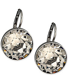 Swarovski Silver-Tone Faceted Crystal Drop Earrings