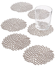 Chilewich Vinyl 6-Pc. Dahlia Coasters Set