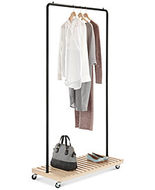 Whitmor Wood-Slat Garment Rack