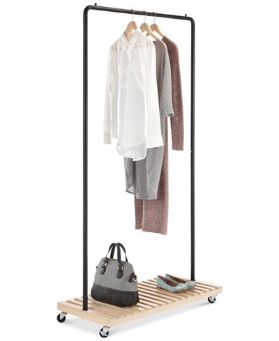 Whitmor Wood-Slat Garment Rack