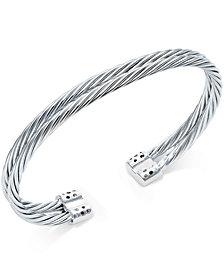 Diamond Pavé Cuff Bracelet (1/5 ct. t.w.) in Sterling Silver