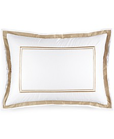 Pair of Embroidered Frame Standard Shams, Created for Macy's