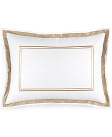 Hotel Collection Pair of Embroidered Frame Standard Shams, Created for Macy's