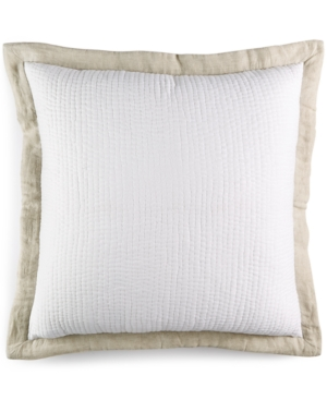 Hotel Collection Linen Natural Quilted European Sham Bedding