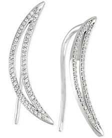 Diamond Ear Crawlers (1/5 ct. t.w.) in 14k White Gold, Created for Macy's